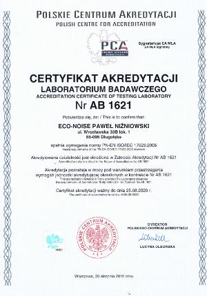Certyfikat akredytacji